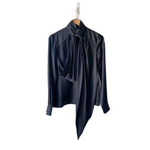 Givenchy Draped Satin Blouse